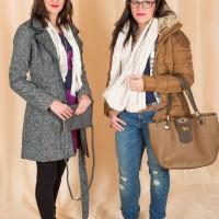 """Mängu """"Mood ajamasinas"""" osalejad Kristi ja Mari-Liis Takko Fashioni riietes"""