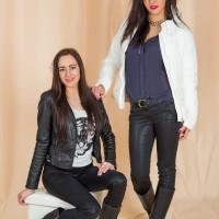 """Mängu """"Mood ajamasinas"""" osalejad Reet ja Mari-Liis Takko Fashioni riietes aastal 2014"""