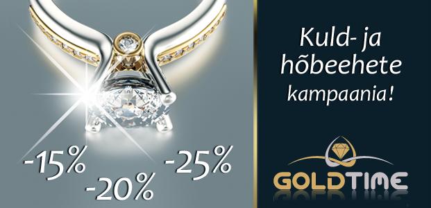 Kuld- ja hõbeehete kampaania GOLDTIME's !