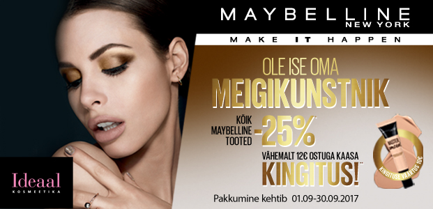 Maybelline – 25 % !!!