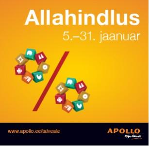 Suur aasta alguse allahindlus Apollos!