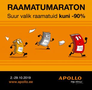 Apollos on 2.-29. oktoobril suur RAAMATUMARATON!