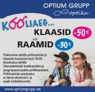 Koolikampaania Optium Grupp Optikas