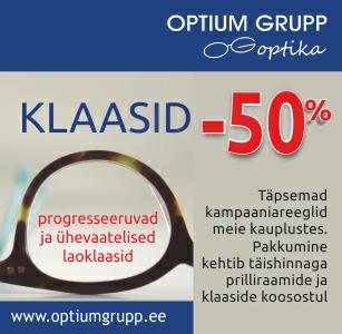 Optium Grupp Optikas klaasid -50% SOODSAMALT!