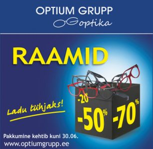 Optium Grupp – paljud prilliraamid kuni -70%!